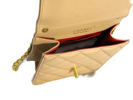 Сумка женская Chanel 6022 (шанель) beige