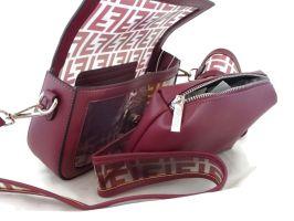 Женская сумка багет Fendi (Фенди) 1132 Red_2