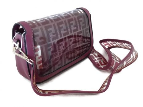 Женская сумка багет Fendi (Фенди) 1132 Red