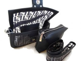 Женская сумка багет Fendi (Фенди) 1132 BLACK_2