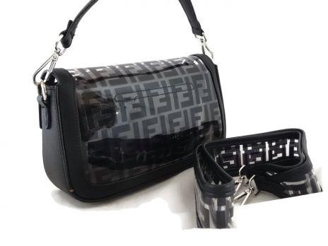 Женская сумка багет Fendi (Фенди) 1132 BLACK