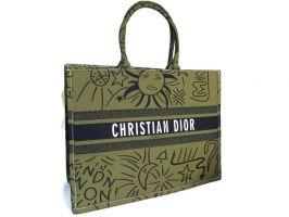Женская сумка тоут Christian Dior 7911 haki