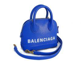 Кожаная сумочка Balenciaga (Баленсиага) Blue_0