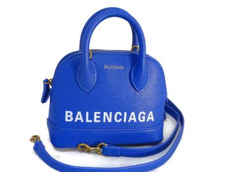 Кожаная сумочка Balenciaga (Баленсиага) Blue