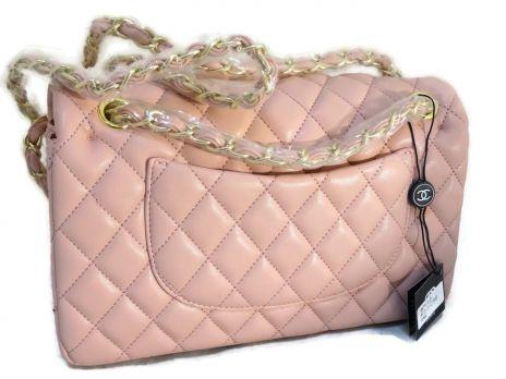 Сумка женская розовая Chanel (Шанель) 9371 pink
