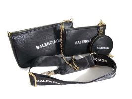 Сумка женская набор Balenciaga (Баленсиага) 68116 BLACK_0