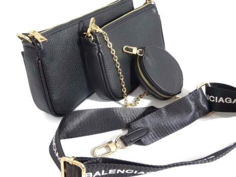 Сумка женская набор Balenciaga (Баленсиага) 68116 BLACK