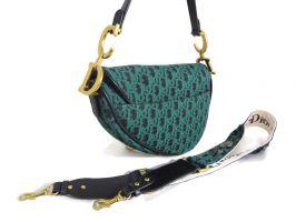 Женская сумка седло Christian Dior 4738 GREEN_1
