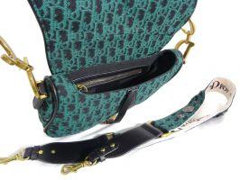 Женская сумка седло Christian Dior 4738 GREEN_2