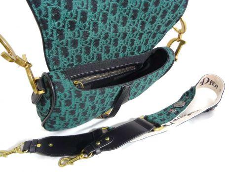 Женская сумка седло Christian Dior 4738 GREEN
