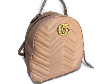 Женский рюкзак Gucci Marmont 246 M пудра