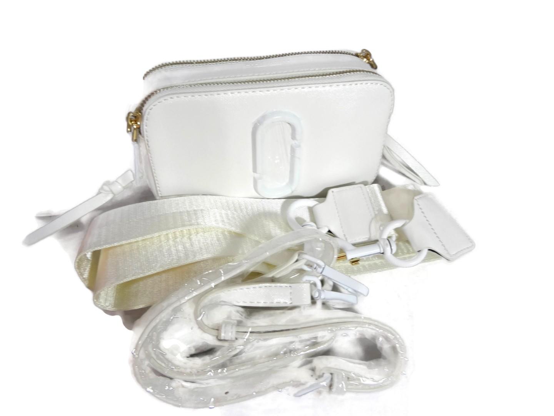 Кожаная женская сумочка кроссбоди Marc Jacobs 9636 WHITE