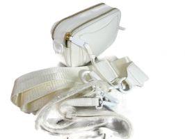 Кожаная женская сумочка кроссбоди Marc Jacobs 9636 WHITE_1
