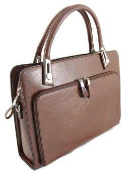 Кожаная женская сумка портфель Paul Danny 70289S-42
