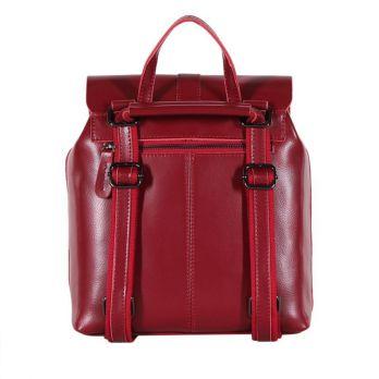 Рюкзак кожаный winered