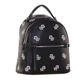 Рюкзак женский black-silver F Rosso