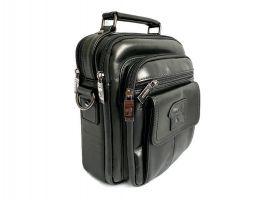 Кожаная мужская сумка Fuzhiniao black_1