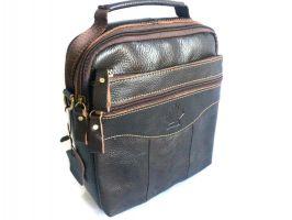 Кожаная мужская сумка Brown_0