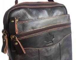 Кожаная мужская сумка Brown_2