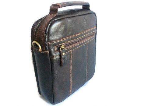 Кожаная мужская сумка Brown