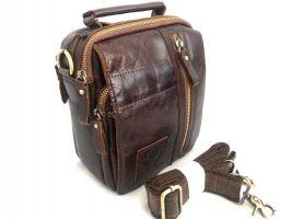 Мужская кожаная сумка ZZNICK 3713 brown_0