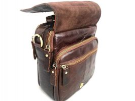 Мужская кожаная сумка ZZNICK 3713 brown_2