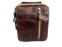 Мужская кожаная сумка ZZNICK 3713 brown_3