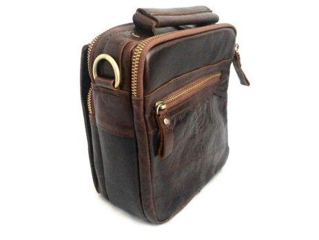 Мужская кожаная сумка ZZNICK 3713 brown