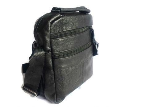 Кожаная мужская сумка Black
