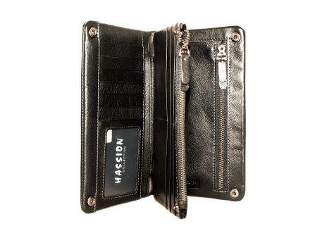 Кожаный кошелёк-клатч Hassion H-025b