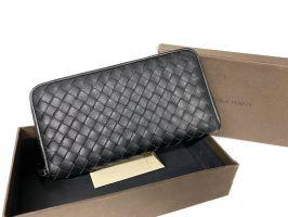 Клатч кожаный плетёный Bottega Veneta black 355_0