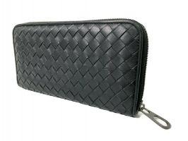 Клатч кожаный плетёный Bottega Veneta black 355_2
