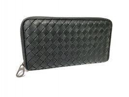 Клатч кожаный плетёный Bottega Veneta black 355_1