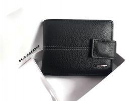 Кошелёк кожаный Hassion 209-1 black