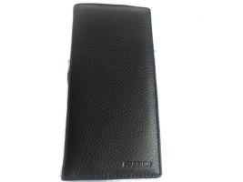 Кожаный клатч Hassion 17-6609 black