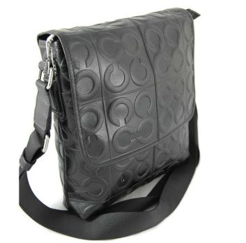 Кожаная сумка Coach (Коуч) black
