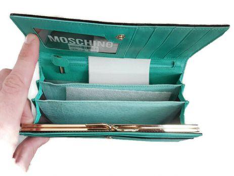Кошелёк женский кожаный Moschino (Москино)