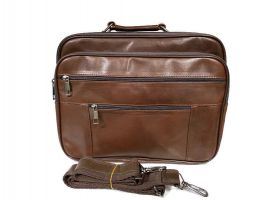 Мужская кожаная сумка портфель Brown 401