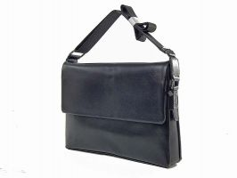 Кожаная мужская сумка 1806-2-168 Black_1