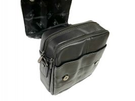 Мужская кожаная сумка Fuzhinino 99211 black_3