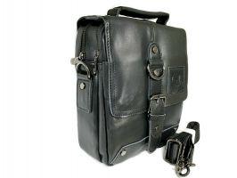 Мужская кожаная сумка Fuzhinino 99211 black_5