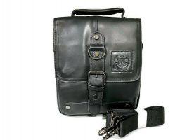 Мужская кожаная сумка Fuzhinino 99211 black_6