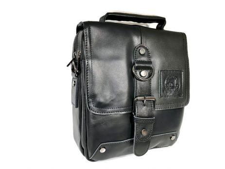 Мужская кожаная сумка Fuzhinino 99211 black