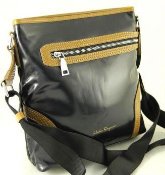 Мужская кожаная сумка Salvatore Ferragamo 8835 black