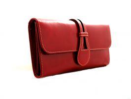 Кожаный женский кошелек Hassion 6129 красный_0