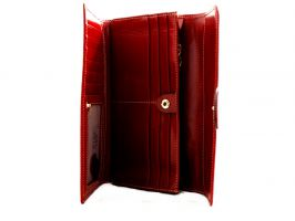 Кожаный женский кошелек Hassion 6129 красный_2