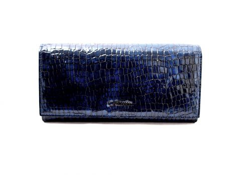 Кожаный женский кошелек под рептилию Hassion 72062-47202bl