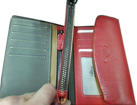 Кошелёк женский кожаный Alice 30-9933 red
