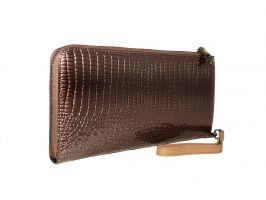 Кожаный женский клатч-кошелёк Alice 27-3023gr_1