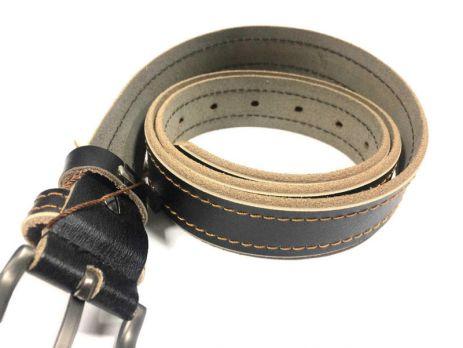 Ремень чёрный женский кожаный RW-3100 b